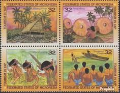 Mikronesien 460-463 Viererblock (kompl.Ausg.) Postfrisch 1996 Tourismus - Micronésie