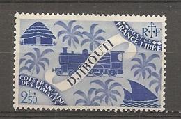 C  SOMALIS - Yv. N° 243  *  2f50  Série Londres Cote  0,9 Euro BE 2 Scans - Côte Française Des Somalis (1894-1967)