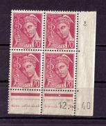 COIN DATE N* 416 ( 12.4.40) NEUF** - Ecken (Datum)