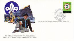 GIBRALTAR -  1982 75TH ANNIVERSARY SCOUTING  FDC1680 - Gibraltar