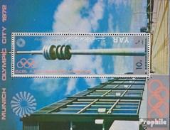 Nordjemen (Arabische Rep.) Block 145 (completa Edizione) MNH 1970 Strutture Città Olimpica Monaco Di Baviera - Yemen