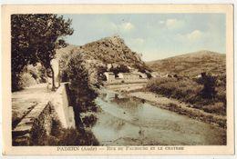 """AUDE PADERN Carte Colorisée : """" Rue Du Faubourg Et Le Château """" - Francia"""