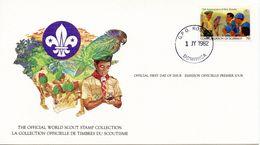 DOMINICA-  1982 75TH ANNIVERSARY SCOUTING  FDC1689 - Dominica (1978-...)