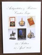Catalogo Asta Antiquariato - Antiquitaten & Historica Carsten Auktion 44 - 2013 - Livres & Logiciels