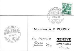 63 - 68 - Carte Avec Superbes Cachets Illustrés Schwefelberg Bad 1946 - Marcophilie