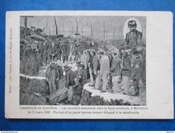 PAS DE CALAIS  62    MERICOURT  LE 13 MARS 1906  , CERCUEILS ..( CATASTROPHE DE COURRIERES  )      ANIME  MINI  PLI  BAS - France