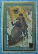 Chromo Image Au Bon Marché Russie ,traîneau Neige Emblème Drapeau... - Chocolat