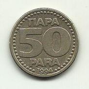 1994 - Jugoslavia 50 Para, - Jugoslavia