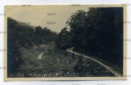 Malaya Ipoh The Taiping Pass Taiping Perak Postcard Used Ipoh 1936 4c Orange Perak Stamp - Malaysia