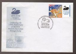 Australia Swan River Stampshow FREMANTLE 150th Anniv First Postage Stamp Commemorative Cover - Omslagen Van Eerste Dagen (FDC)