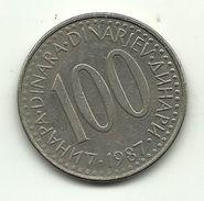 1987 - Jugoslavia 100 Dinara, - Jugoslavia