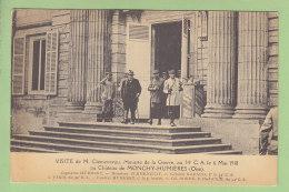 Visite De CLEMENCEAU Au 34e C.A. , Château De Monchy Humières, Mai 1918. Rare. 2 Scans. Edition Longuet - Guerra 1914-18