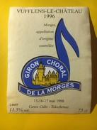 5864 - Giron Choral De La Morges Mai1998 Vufflens-le.Château 1996 Suisse - Musique