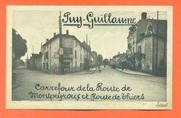 """CPA 63 Puy Guillaume """" Carrefour De La Route De Montpeyroux Et Route De Thiers """"  LJCP 57 - Francia"""