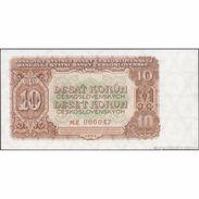 TWN - CZECHOSLOVAKIA 83b - 10 Korun 1953 Very Low Serial 0000XX - Prefix ME UNC - Cecoslovacchia