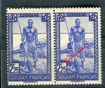 Soudan - Variété 1 Exemplaire Avec Un Point De Couleur A Coté Du F De 2F25 Tenant à Normal , Neufs Luxes - Ref V286 - Soudan (1894-1902)