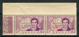 Soudan - Variété 1 Exemplaire Avec La Légende Soudan épaisse Tenant à Normal , Neufs Luxes - Ref V287 - Soudan (1894-1902)