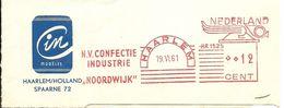 NL Nice Cut Meter NV Confectie Industrie Noordwijk, Haarlem 19/6/1961 Textile - Textiel