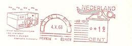 NL Front Firmcover Perkin-Elmer, Meter Voor Sporenanalyse (analyse Tracks ) Delft 4/10/1968 - Scheikunde