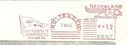 NL Front Firmcover Reederij Koeningsfeld, Nice Meter JHK Flag, Rotterdam 7/12/1963 Ship - Boten