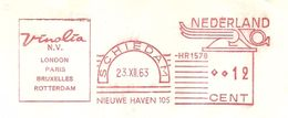 NL Firmcover Vinolia, Nice Meter Vinolia London Paris Bruxelles Rotterdam, 23/12/1963 Ship - Boten