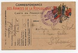 CPA Guerre 14-18 Correspondance Des Armées De La République Envoi Du Capitaine Sérol Tampon 89ème Brigade D'infanterie - Guerra 1914-18