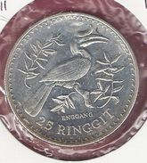 MALEISIE 25 RINGGIT 1976 SILVER FDC WWF ENGGANG BIRD - Malaysie