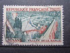 VEND TIMBRE DE FRANCE N° 1315 , ORANGE DECALEE VERS LA DROITE !!! - Variétés: 1960-69 Oblitérés