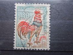 VEND TIMBRE DE FRANCE N° 1331A , 5ème CRETE ABSENTE !!! (b) - Variétés: 1960-69 Oblitérés