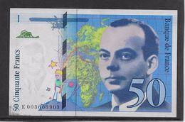 France 50 Francs St Exupéry - 1992 - Fayette N° 72-1b - SUP - 1992-2000 Last Series