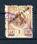 1899 MESSICO OVERPRINTED 1c. USATO - Messico