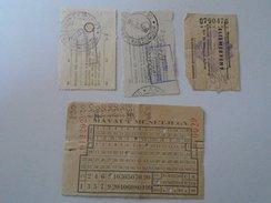 J2050.6 Old Train Tickets  Hungary  MÁVAUT  MÁV - Transportation Tickets