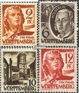 Franz. Zone-Württemberg 14-15,17-18 Postfrisch 1948 Persönlichkeiten Und Ansichten (II) - Zona Francese