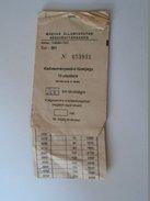 J2050.7 Old Train Tickets  Hungary  Booklet  10 X 200 Km   MÁV Rákosrendezö  -Budapest-Békéscsaba - Transportation Tickets