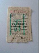 J2050.8 Old Train Ticket  Hungary  1957 - Transportation Tickets