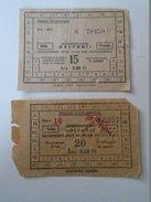 J2050.9 Old Train Tickets  Hungary   Vadasmajor -Bélmegyer Békéscsaba  1950's - Unclassified