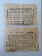 J2050.10 Old Train  - Railway /bus  Tickets  Hungary   MÁVAUT   1950's - Transportation Tickets
