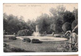 CPA   POLOGNE----GLEIWITZ---PROMENADE , AM SPRINGBRUNNEN---1920 - Poland