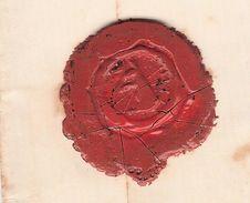 1894- Cachet De Cire Représentant UN LAPIN DEBOUT???+ Beau Cachet TARBES 4 DEC 94 SUR TYPE SAGE N° 101 - Marcophilie (Lettres)