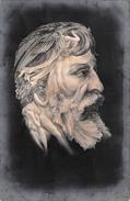 CPA Fantaisie - Portrait Mounet Sully Caricature Style Arcimboldo - Surréalisme Arcimboldesque - Hommes