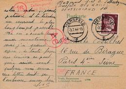 Entier Hersfeld Bez Kassel Censure WWII - Covers & Documents