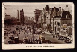 Argentina Buenos Aires Plaza Constitucion Tranvia Tarjeta Postal Ca 1900 (W4_3662) - Argentine