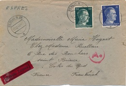 Lettre Expres Berlin Censure WWII - Allemagne