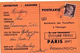 Carte Schwenningen Neckar Flamme Lineaire Censure WWII - Allemagne