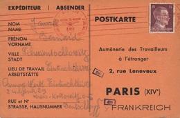 Carte Schwientochlowitz Flamme Lineaire Censure WWII - Allemagne