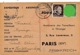 Carte Hitler Springe Deister Censure WWII - Allemagne