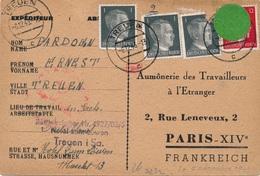Carte Hitler Treuen Censure WWII - Covers & Documents