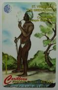 ST VINCENT & THE GRENADINES - GPT - 13CSVD - $20 - Carib Chief Joseph Chatoyer - STV-13D - Used - St. Vincent & The Grenadines