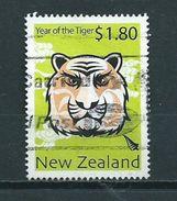 2010 New Zealand $1.80 Year Of The Tiger Used/gebruikt/oblitere - Neuseeland