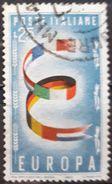 ITALIA 1957 EUROPA Stamps. USADO - USED. - 6. 1946-.. Republic